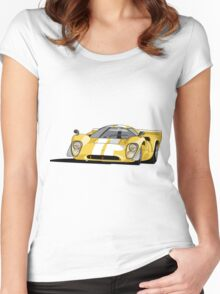 Lola T70 MKIII - Yellow Women's Fitted Scoop T-Shirt