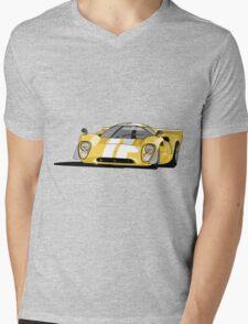 Lola T70 MKIII - Yellow Mens V-Neck T-Shirt