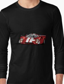 Lola T70 MKIII - Red Long Sleeve T-Shirt