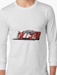 Lola T70 MKIII - Red Long Sleeve T-Shirt