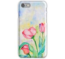 Spring Collection, Tulips print iPhone Case/Skin