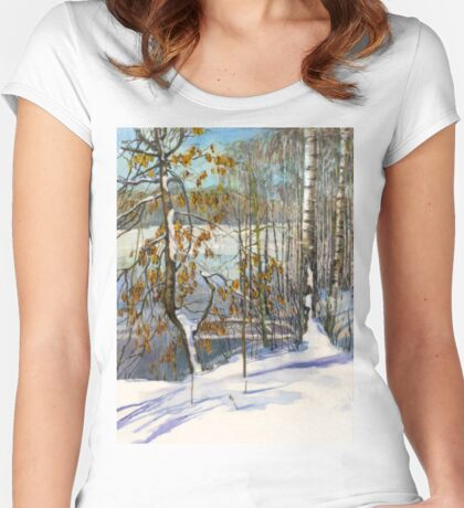 Snow fell Women's Fitted Scoop T-Shirt