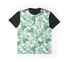 Tropical Jungle on White Graphic T-Shirt