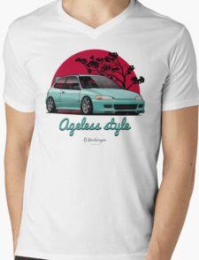 Ageless Style Civic EG (aquamarine) Mens V-Neck T-Shirt