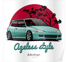 Ageless Style Civic EG (aquamarine) Poster