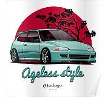Ageless Style Civic EG (aquamarine) Poster