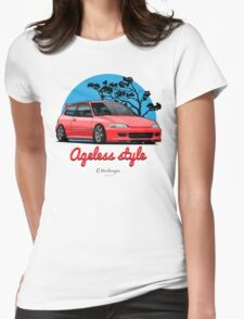 Ageless Style Civic EG (red) Womens Fitted T-Shirt