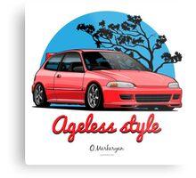 Ageless Style Civic EG (red) Metal Print