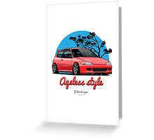 Ageless Style Civic EG (red) Greeting Card