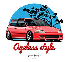 Ageless Style Civic EG (red) Photographic Print