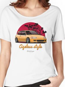 Ageless Style Civic EG (yellow) Women's Relaxed Fit T-Shirt