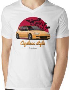Ageless Style Civic EG (yellow) Mens V-Neck T-Shirt