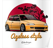 Ageless Style Civic EG (yellow) Poster
