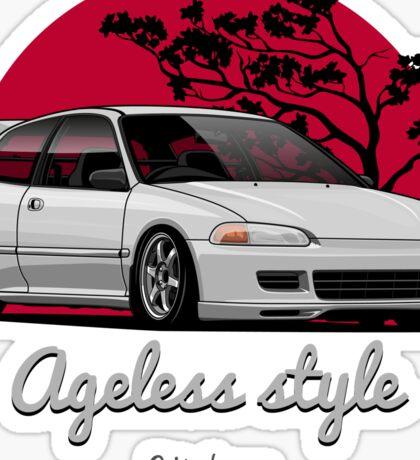Ageless Style Civic EG (white or grey) Sticker