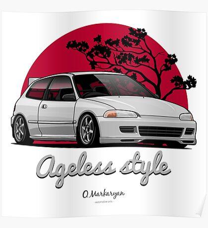 Ageless Style Civic EG (white or grey) Poster