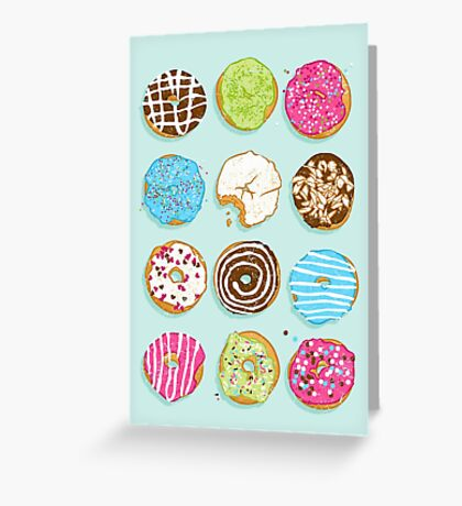 Sweet donuts Greeting Card