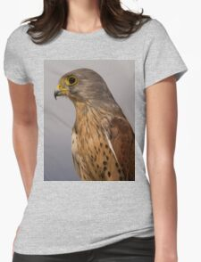 Portrait of a Kestrel Womens Fitted T-Shirt