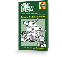 Haynes Manual - Army Surplus special - Poster and stickers Greeting Card