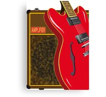 Guitar And Amplifier Canvas Print