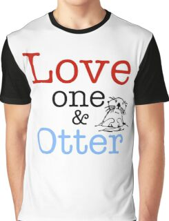 Love One & Otter Graphic T-Shirt