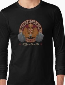 Beast Mode Gym (Non-Distressed) Long Sleeve T-Shirt