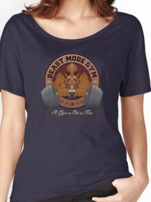 Beast Mode Gym (Non-Distressed) Women's Relaxed Fit T-Shirt
