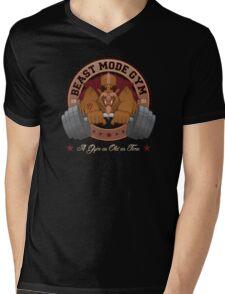 Beast Mode Gym (Non-Distressed) Mens V-Neck T-Shirt