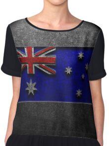 Australian Flag Stone Texture Chiffon Top