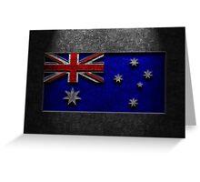 Australian Flag Stone Texture Greeting Card