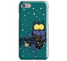 Owl in the snow iPhone Case/Skin