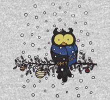 Owl in the snow Kids Tee