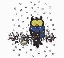 Owl in the snow One Piece - Short Sleeve