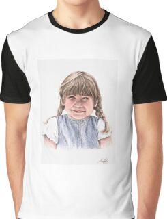 Sweet Little Girl Portrait Graphic T-Shirt