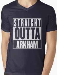 STRAIGHT OUTTA ARKHAM Mens V-Neck T-Shirt