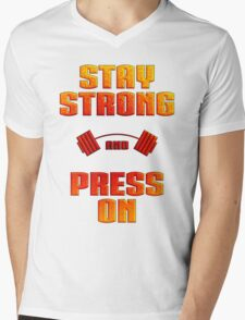 Stay Strong Mens V-Neck T-Shirt
