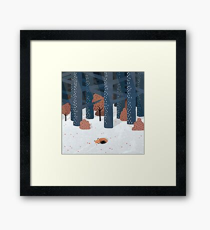 Asleep in the Woods Framed Print