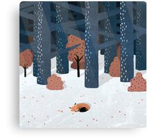 Asleep in the Woods Canvas Print