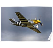"North American P-51D Mustang ""Ferocious Frankie"" Poster"