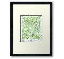USGS TOPO Map Alabama AL Nauvoo 304652 2000 24000 Framed Print