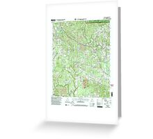 USGS TOPO Map Alabama AL Nauvoo 304652 2000 24000 Greeting Card
