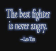 Lao Tzu, The best fighter is never angry. Combat, Karate, Kung Fu, Boxing, Wrestling, MMA, Martial Arts Baby Tee