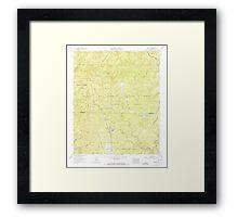 USGS TOPO Map Alabama AL Grayson 304031 1960 24000 Framed Print