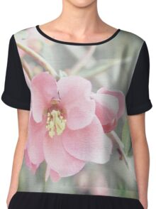 Textured Quince Blossoms Chiffon Top