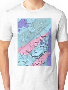 Alien Robot Attack Unisex T-Shirt