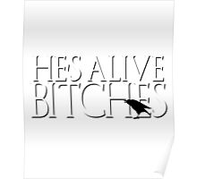 Jon Snow He's Alive Bitches Game Thrones GOT Stark Crows Castle Black Poster