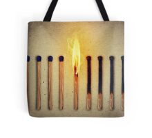 burning alone Tote Bag