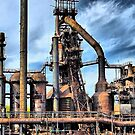Steel Stacks - Bethlehem Pa. by DJ Florek