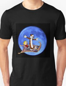 calvin and hobbes moon sky Unisex T-Shirt