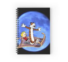 calvin and hobbes moon sky Spiral Notebook
