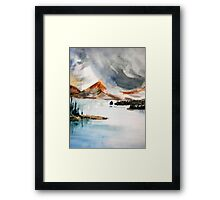 Lakes and Mountains Framed Print